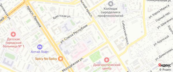 Бурлинский проезд на карте Барнаула с номерами домов