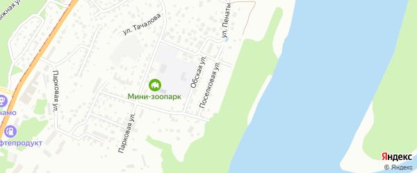 Поселковая улица на карте Барнаула с номерами домов