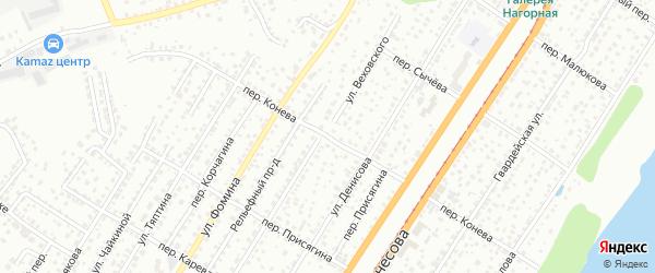 Переулок Конева на карте Барнаула с номерами домов