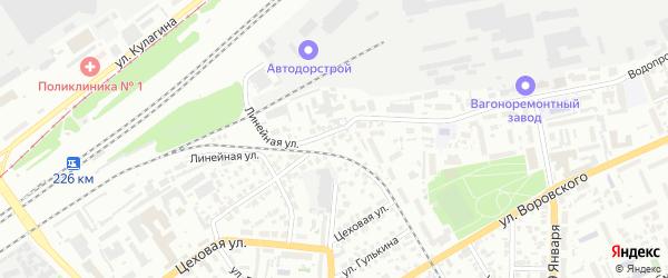 Коллективная улица на карте садового некоммерческого товарищества N 3 с номерами домов