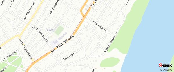 Южная улица на карте садового некоммерческого товарищества N 12 с номерами домов