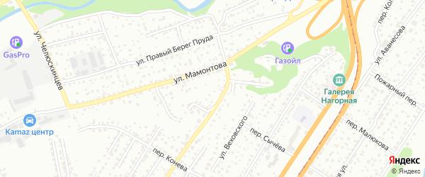 Топольный переулок на карте Барнаула с номерами домов