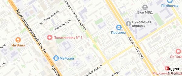 Социалистический проспект на карте Барнаула с номерами домов