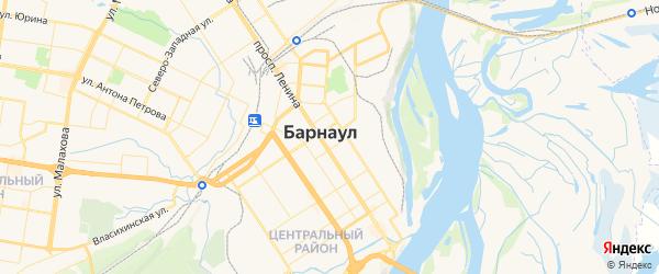 Карта Барнаула с районами, улицами и номерами домов