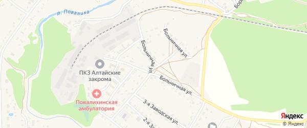 Больничная улица на карте села Повалиха с номерами домов
