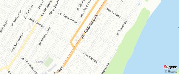 Проезд Присягина на карте Барнаула с номерами домов