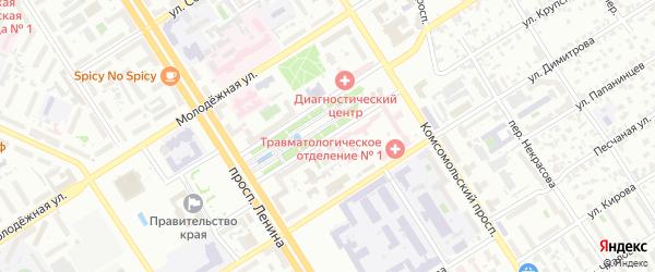 Площадь Ветеранов на карте Барнаула с номерами домов