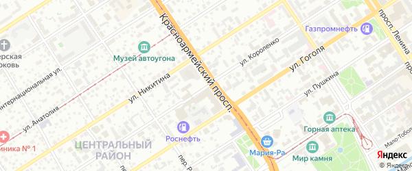 Улица Короленко на карте Барнаула с номерами домов