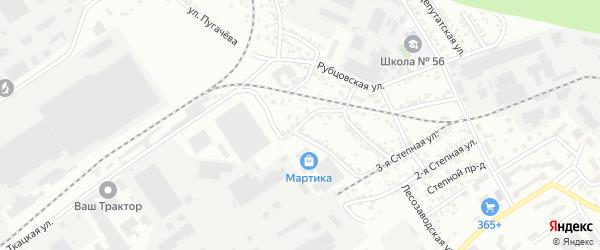 Котельная улица на карте Барнаула с номерами домов