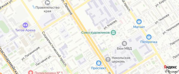 Улица Кирова на карте Барнаула с номерами домов