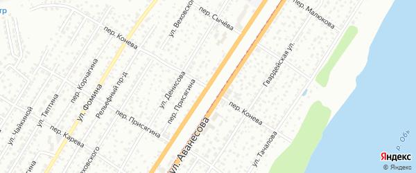 Улица Аванесова на карте Барнаула с номерами домов