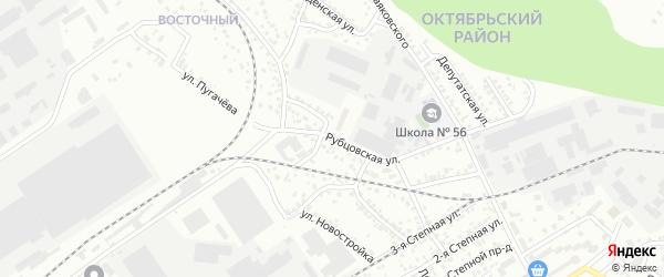 Рубцовская улица на карте Барнаула с номерами домов
