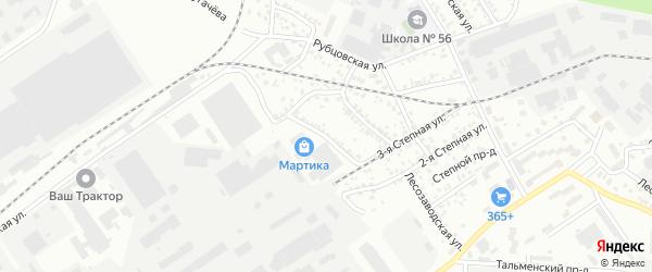 Улица Новостройка на карте Барнаула с номерами домов