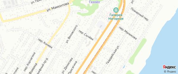 Переулок Сычева на карте Барнаула с номерами домов