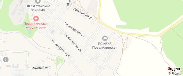 Строительная улица на карте села Повалиха с номерами домов