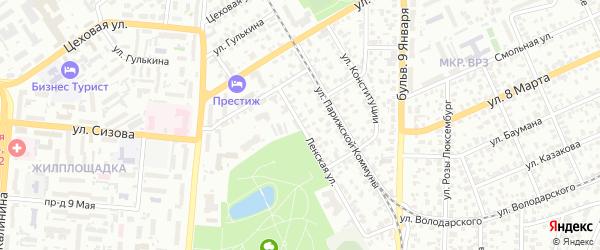 Ленская улица на карте Барнаула с номерами домов