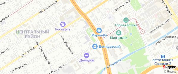 Демидовская площадь на карте Барнаула с номерами домов
