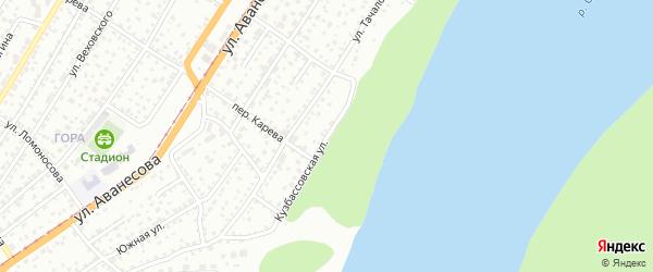 Кузбассовская улица на карте Барнаула с номерами домов