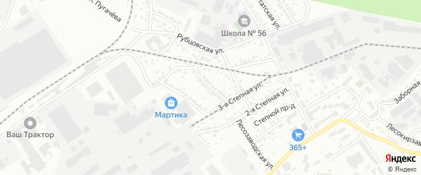Непроходной переулок на карте Барнаула с номерами домов