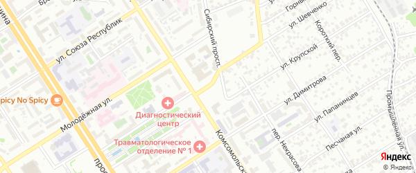 Обской бульвар на карте Барнаула с номерами домов