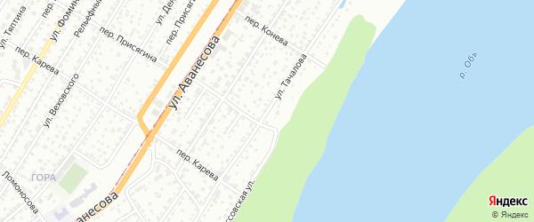 Улица Тачалова на карте Барнаула с номерами домов