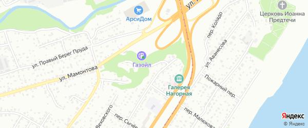 Улица Высокий Яр на карте Барнаула с номерами домов
