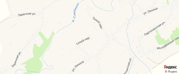 Тихий переулок на карте села Михайловки с номерами домов