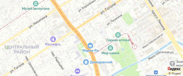 Площадь Спартака на карте Барнаула с номерами домов