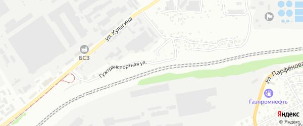 Гужтранспортная улица на карте Барнаула с номерами домов