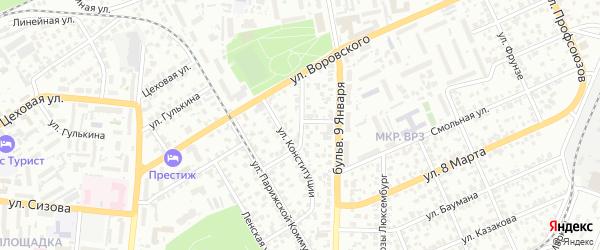 Улица Разина на карте Барнаула с номерами домов
