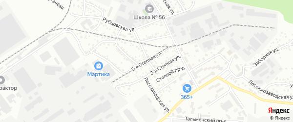 Степная 3-я улица на карте Барнаула с номерами домов