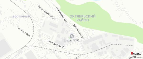 Улица Маяковского на карте Барнаула с номерами домов