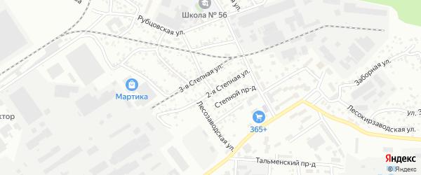 Лесозаводская улица на карте Барнаула с номерами домов
