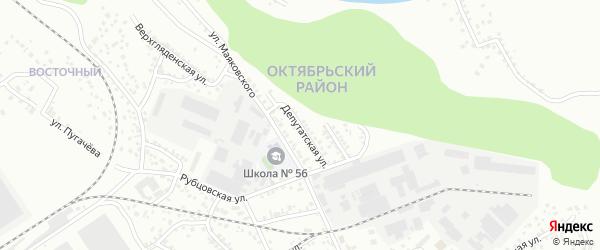 Депутатская улица на карте Барнаула с номерами домов