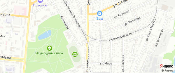 Бульвар 9 Января на карте Барнаула с номерами домов