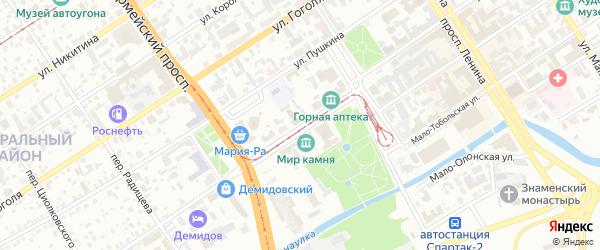 Улица Ползунова на карте Барнаула с номерами домов
