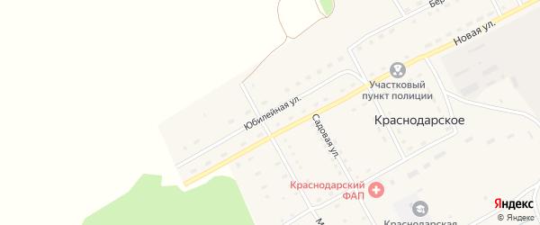 Юбилейная улица на карте Краснодарского села с номерами домов