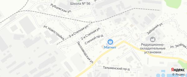 Степной проезд на карте Барнаула с номерами домов