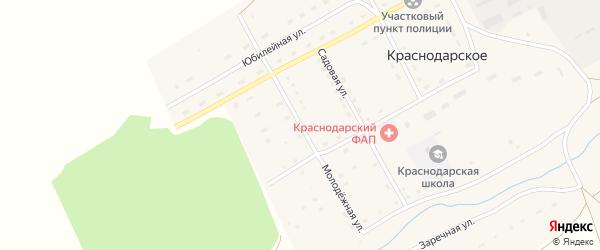 Молодежная улица на карте Краснодарского села с номерами домов