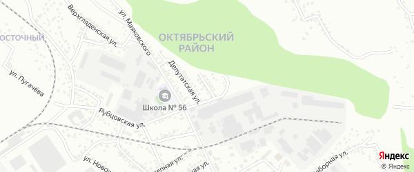 Приобская улица на карте Барнаула с номерами домов
