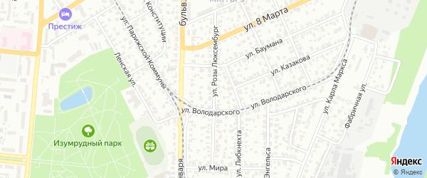Улица Розы Люксембург на карте Барнаула с номерами домов