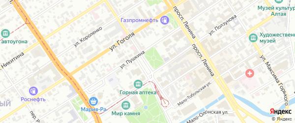 Площадь Свободы на карте Барнаула с номерами домов