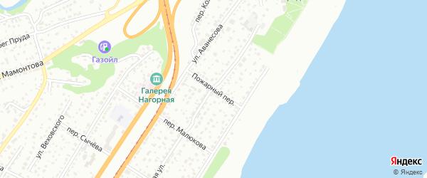 Пожарный переулок на карте Барнаула с номерами домов
