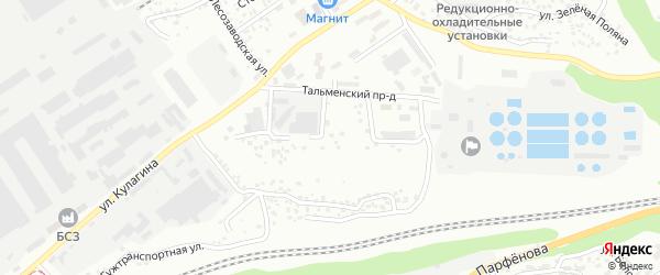 Тупиковый проезд на карте Барнаула с номерами домов