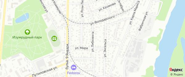 Улица Либкнехта на карте Барнаула с номерами домов