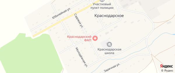 Садовая улица на карте Краснодарского села с номерами домов