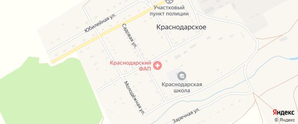 Комсомольская улица на карте Краснодарского села с номерами домов