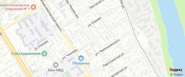 Переулок Некрасова на карте Барнаула с номерами домов