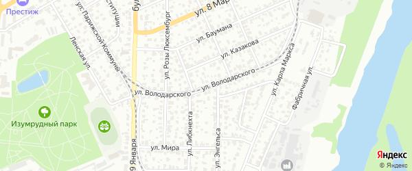 Улица Володарского на карте Барнаула с номерами домов