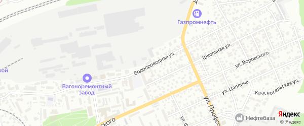 Водопроводная улица на карте Барнаула с номерами домов